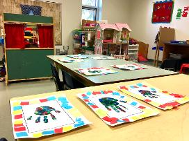 finger print craft classroom